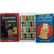 100 Harry Houdini Tricks You Can Do Hardcover By Dunninger And Vintage Magiccard