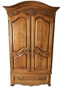 Ethan Allen Legacy Country French Armoire Wardrobe Media Center 13-5315 Fin 213