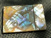 Antique Victorian Mother O Pearl Calling Card Case 1800s Very Fine