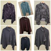 Lot Of 7 Bobeau Button-up Long Sleeve Cardigans - Women's Size L Preowned