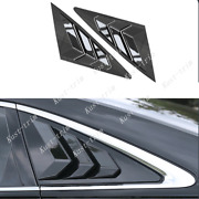 Fit For Audi A6 C8 2019-2020 Abs Black Rear Triangular Blinds Cover Trim 2pcs
