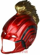 Brie Larson Signed Autographed And039captain Marveland039 Red Cosplay Helmet Tristar