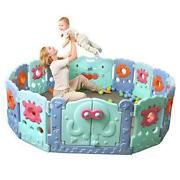 Foldable Baby Playpen - Play Gate For Toddler Play Yard, Ocean World Play