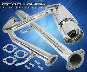 For 04-08 Scion Tc 2.4l N1 Style 2.25 Stainless Catback Exhaust System 4 Tip