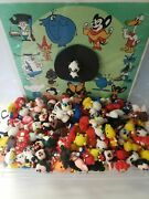 Vintage Cartoon Pencil Topper Charms Toys Vending Gumball Machine Lot Of 4 275