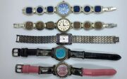 Lot Of 5 Ecclissi Sterling Silver Women's Ladies Watches
