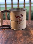Vintage 1950's Mid Century Androck Hand-i-sift Flour Sifter Flower 3 Screens
