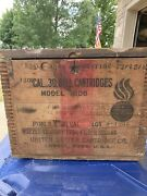 Incredible Ww1 Aircraft Ammunition Box Dated 1909 With Captains Tag