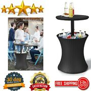 Pacific Cool Bar Outdoor Patio Furniture And Hot Tub Side Table, Beer Wine Cooler