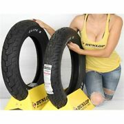 130/90 16, 140/90 16 Dunlop D491 Elite Ii Rwl Front And Rear Tire Kit - 2 Tires