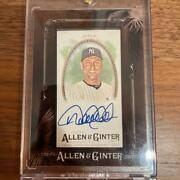 2017 Mlb Topps Allen And Ginter Derek Jeter Autograph Trading Cards Used