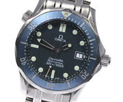Wristwatch Omega Seamaster 300 2561.80 Menand039s Used Silver Navy Quartz 36mm