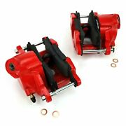 Red Gm Large Bore Single Piston Calipers 1 Set Front Parts Suspension Crate