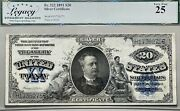 1891 20 Silver Certificate Large Size Manning Note Legacy Vf 25 Fr 322