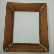 Antique Wooden Frame For 8x10 Picture No Back Or Glass 11.5x13.5 Unique And Rare