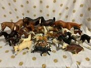 Vintage Breyer Reeves Horses Cattle Lot Of -26- Toy Plastic 4andrdquo 6andrdquo 7andrdquo 8andrdquo 10andrdquo 12andrdquo