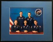 Sts-28 Mission Crew Hand Signed Autographed Photo Rare Astronaut Office Version