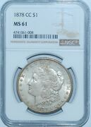 1878 Cc Ngc Ms61 Vam-11 Top-100 Lines In Wing Carson City Morgan Silver Dollar