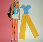 Vtg 1976 Tuesday Taylor W Outfit 1970's Ideal Doll Turn Scalp Blonde Brunette