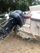 1990 Evinrude 110 Hp Vro Carb Outboard V4 20andrdquo With Free Boat