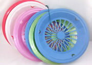 7 Vintage 2 Pink, 2 Blue, Green, Red Plastic Paper Plate Holders Picnic Bbq