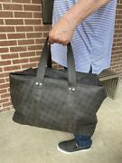 Dunhill D8 Holdall Overnight Bag Or Carry On In Brown Pvc
