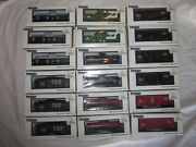 Lot Of 18 Industrial Ho Scale Model Railway Train Cars Freight Tanker Conoco Bando