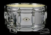 1961 Rogers Dynasonic Snare Drum Bread And Butter Lugs Cleveland 6.5 X 14