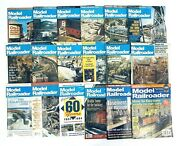 Model Railroader Magazine 80s 90s Lot Of 18 Back Issues All Of 1981, 1981-2011