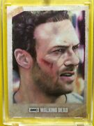 Walking Dead Sketch Card Of Aaron By Carlos Cabaleiro One Of A Kind