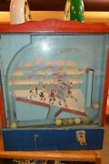 Vintage Victory C.1930 Table Top 1 Cent Coin Op Arcade Basketball Skill Game