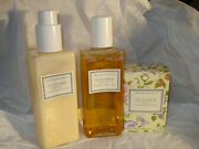 Crabtree And Evelyn Summerhill Body Lotion + Shower Gel 6.8 Each + Soap