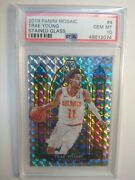 2019-20 Panini Mosaic Stained Glass 4 Trae Young Hawks Psa 10 Hot Card