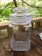 Vtg Apothecary Jar Wedding Candy Cookie Canister Lid Seal Is Good 9-1/4 Koezes