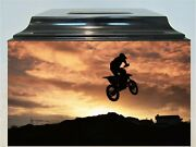237 Motor Cross Sports Adult Memorial Funeral Cremation Urn For Ashes Box