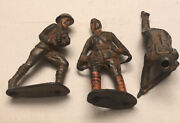 Vintage Barclay Manoil Soldier Lot Of 3 Toy Lead Army Figures Restoration Repair