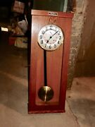 Vintage Spring Wind Electric Master Wall Clock C. Theod. Wagner A-g