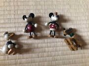 Used Very Rare Disney Old Toy Wooden Beams 4 Body Set Vintage Cute