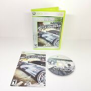 Need For Speed Most Wanted Microsoft Xbox 360 Platinum Hits Case And Manual