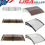 Outdoor Patio Window Front Door Awnings Canopy Cover Snow Rain Protector Shade.