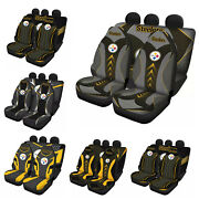 Pittsburgh Steelers Car Seat Covers Set 5 Seater Front Rear Protector Universal