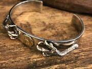 Goroand039s Silver Claw Flat Bracelet Bangle Mens Accessories Gold Silver Color