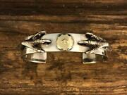 Used Goros Silver Claw Flat Bracelet Bangle Mens Accessories Gold Silver Color