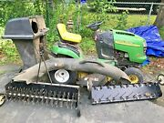 John Deere L111 Riding Lawn Tractor Mower W/ Attachments 240 Hours