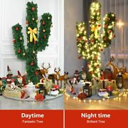 Durable 7' Artificial Green Cactus Christmas Tree W/lights-7'