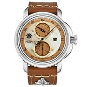 L. Kendall Men's K5 Ivory Mop Dial Brown Leather Strap Automatic Watch K5-004b