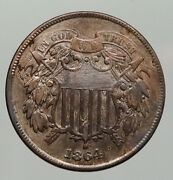 1864 United States 2 Cents 1st In God We Trust On Us Coin After Civil War I92976