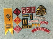 Vintage 1960's Cub Scout Patches Den Mother Arrow Of Light Huge Mixed Lot