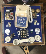 Vintage Traditional Push-button Phone Parts Display