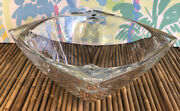 """Console Serving Bowl, Lead Crystal Cut Glass Waterford Bowl 9 3/4"""" X 9 3/4"""""""
